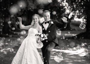Fotograf sussi c alminde bryllup og bobler